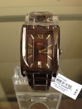 NIB RELIC by FOSSIL Allen Brown IP Stainless Steel Men's Watch FREE SHIP