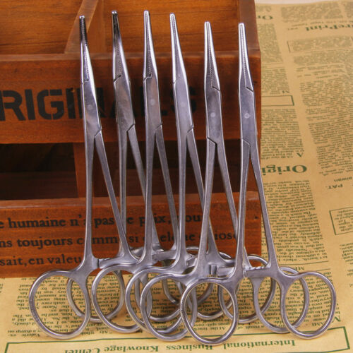 """Home Set 5/"""" Straight//Curved Hemostat Forceps Locking Clamps Stainless Steel 1pc"""
