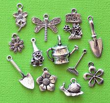 Garden Charm Collection 12 Tibetan Silver Tone Charms FREE Shipping E57