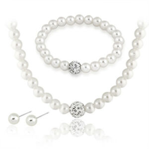 925-Sterling-Silver-5-5-6mm-Freshwater-Pearl-Necklace-Bracelet-Earrings-Set