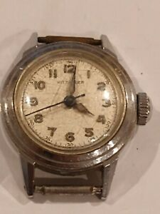 Vintage Ladies Wittnauer Watch 1940s Military Wristwatch Swiss