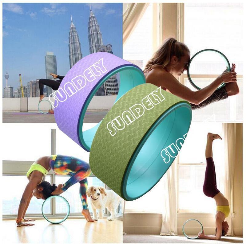 Female Non-Toxic Yoga Wheel Circle Yoga Ring For Fitness 32  13cm  YU8  NEW
