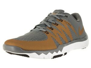 the latest e259c efeb9 Details about Nike Free Trainer 5.0 V6 Mens Training Shoes grey and gold  719922 071 SIZE 6.5