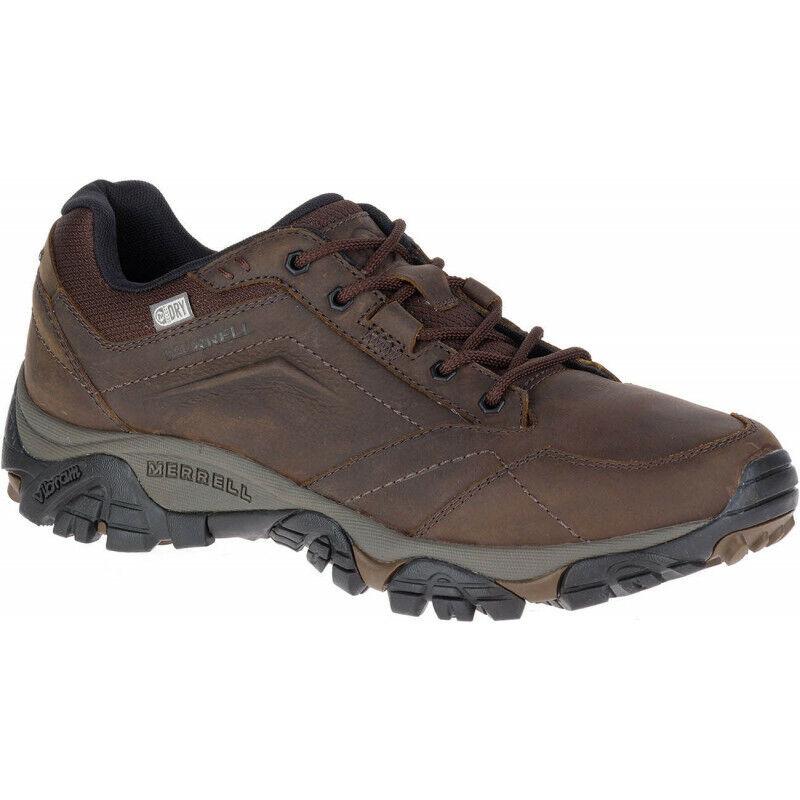 Para Hombre Merrell Moab Adventure Encaje Zapatos Para Caminar Impermeable de Hombre-Marrón