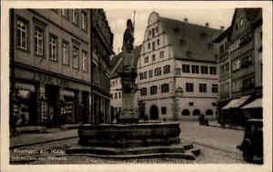 Kitzingen Main ~1930/40 Partie am Marktplatz mit Rathaus Geschäft J. Karl Lang