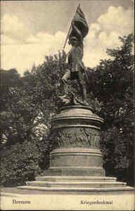 Bremen-alte-Ansichtskarte-1906-gelaufen-Partie-am-Krieger-Denkmal-Kriegerdenkmal
