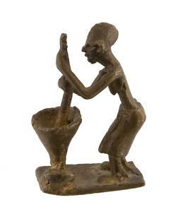 Statuetta, Statuetta Africana IN Bronzo, Vecchio-Ghana-Arte 1078