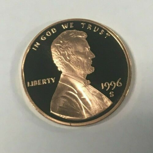 S Lincoln Cent Proof BU Lincoln Memorial Brilliant Coins Roll of 50 $.01 1996