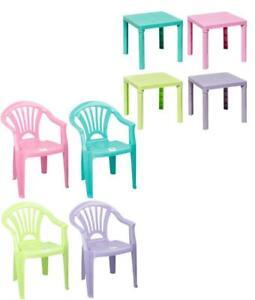 Super DKB Kinder Gartenmöbel Set Stuhl Tisch Kinderzimmer stapelbar 4 HE27