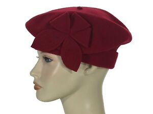 50240aad770 Laulhere French Beret Style 100% Wool Hat Lido Red Made In France 7 ...