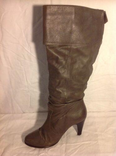 marrone Stivali taglia pelle Successivo in al 41 ginocchio qRwPcSFA