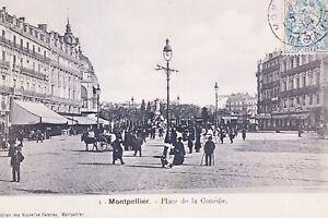 CPA-Montpellier-la-Place-de-la-Comedie