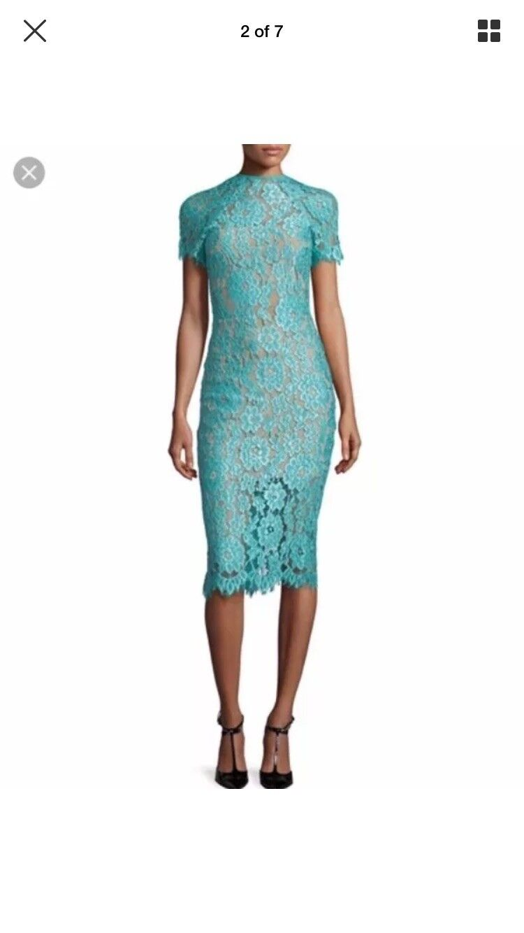 0b1fe5a257360 ALEXIS Leona turquoise Teal bluee lace dress Small nzecaj3548 ...