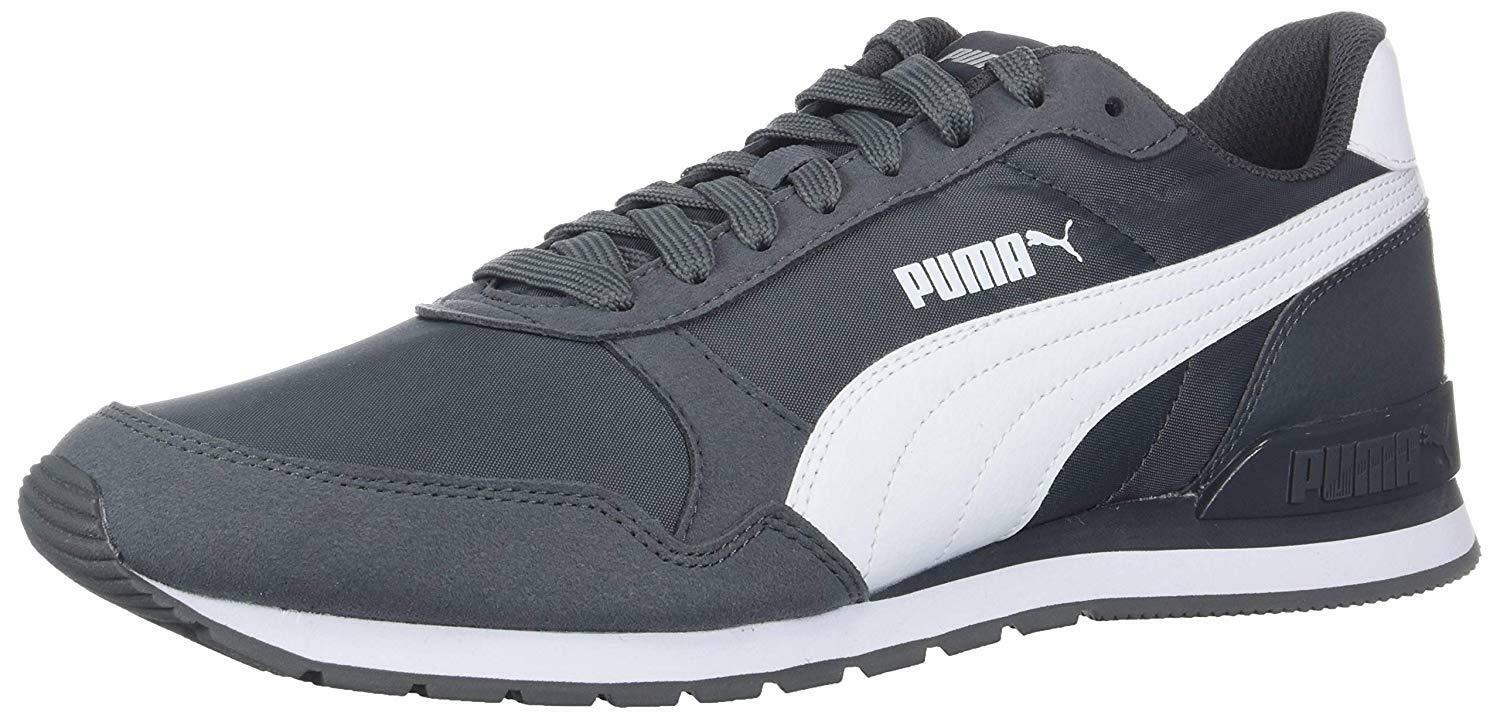 PUMA PUMA ST RUNNER NYLON IRON GATE PUMA WHITE 365278 12 MENS US SIZES