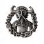 Loki Norse God Pewter Pin Badge