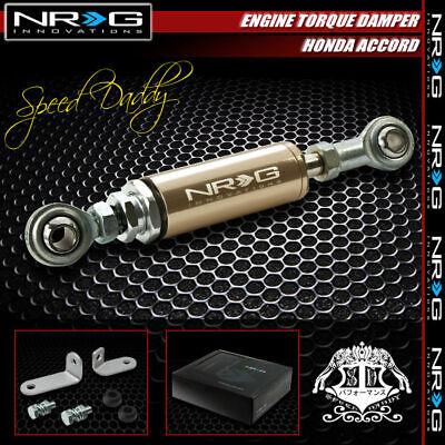 NRG ALUMINUM ENGINE TORQUE DAMPER SHOCKS FOR 92-00 ACCORD//-01 PRELUDE TITANIUM