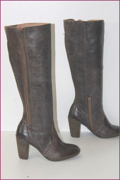 PLDM von Palladium Stiefel mit Absätze Leder dunkelbraun t 39 seht guter Zustand