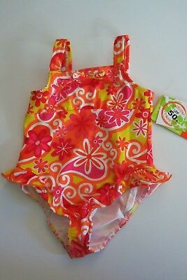 NWT Penelope Mack Toddler Girl/'s 1 Pc Swimsuit White Silver Pink 2T//3T//4T