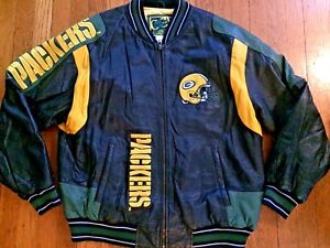 G-III Carl Banks NFL Green Bay Packers Leather Jacket Size Large ... c1e20cdbb
