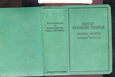 Uralt Taschenwörterbuch Deutsch - italienisch, Italiano - tedesco
