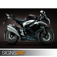 SUZUKI DARK BIKE (1724) Photo Poster Print Art A0 A1 A2 A3 A4 - 2nd HALF PRICE!