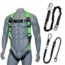 Fall Protection Safety Harness With Dorsal D Ring Roofing Kit Lanyard And Tool