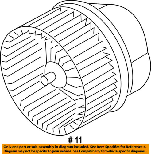 FORD OEM-Blower Motor H1FZ19805A