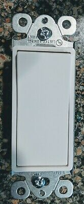 10 DECORATOR SWITCH SINGLE POLE 15 A WHITE-10 PACK 91150-11
