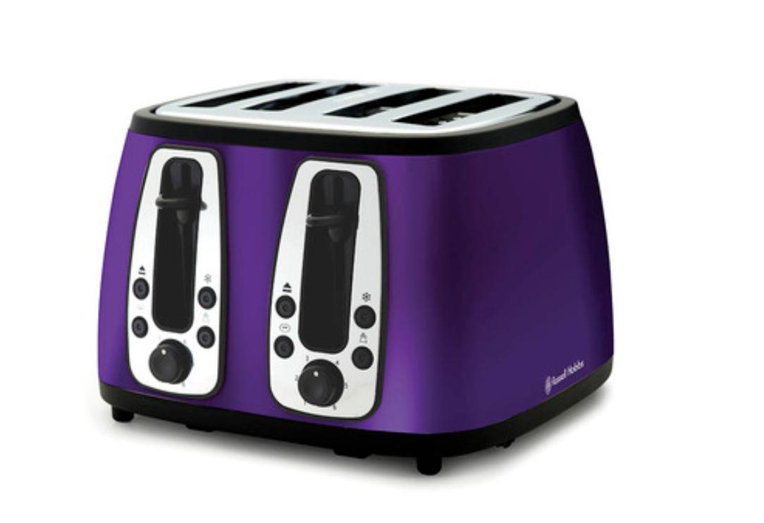 Russell Hobbs violet Toaster - 4-Slice - Designer - Heritage - Brand New