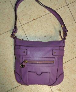 Lavender Purple Leather Shoulder Bag