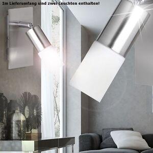 2er-Set-3W-LED-mural-Ampoule-Spot-1-flammig-Spot-Verre-La-vie-Ess-Chambre-Bureau