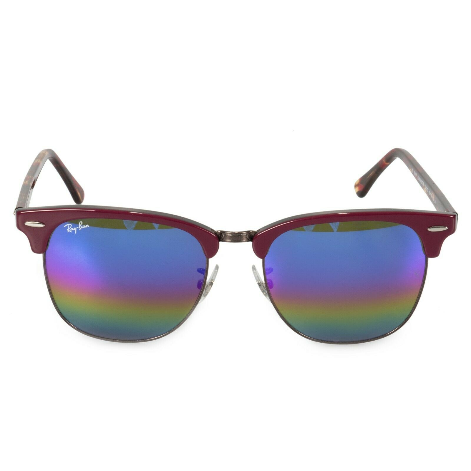 a7c20b7aa4 Ray Ban Clubmaster Mineral Rainbow Flash Icons Square Sunglasses ...