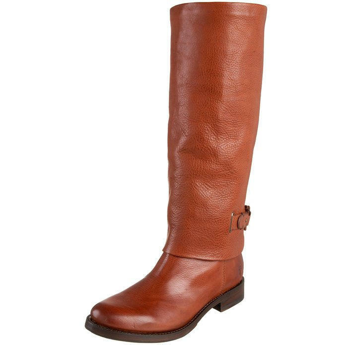 EUC Frye  Maxine  Leather Loop Pull-On Boot,  Brick  color - Size 6.5B, 6 1 2B