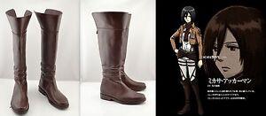 Cosplay-Shingeki-no-Kyojin-Attack-on-Titan-Mikasa-Ackerman-Schuhe-Stiefel-Boots