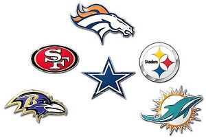 Die-Cut-Metal-Auto-Emblem-COLOR-NFL-Car-Decal-Sticker-Pick-Team
