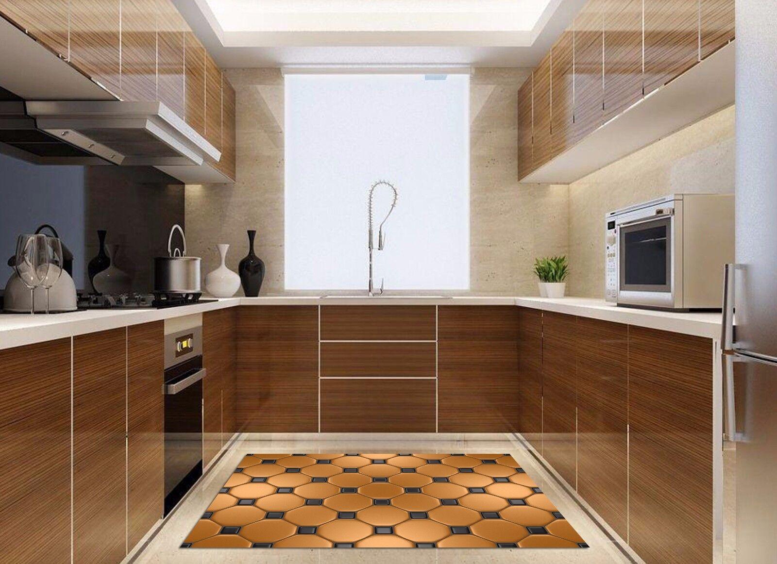 3D Golden Pattern2 Kitchen Mat Floor Murals Wall Print Wall AJ WALLPAPER UK Kyra