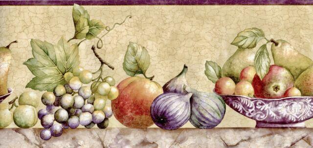 Sunworthy 8 Fruit Watercolor Prepasted Wallpaper Border Eb064134b For Sale Online Ebay