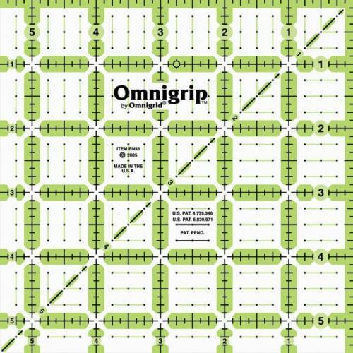 """Omnigrip Non-Slip Quilter/'s Ruler 5 1//2/"""" x 5 1//2/"""""""