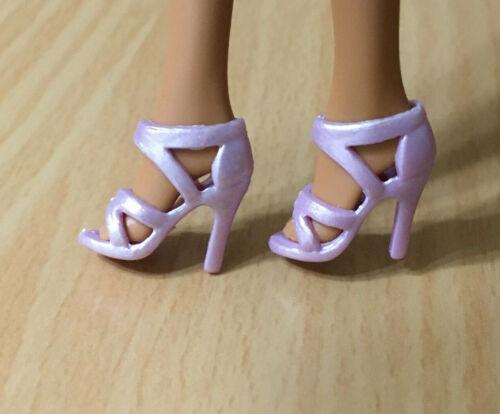 Barbie Doll Fashion Fever Fashionistas Purple Strappy High Heel Sandals Shoes
