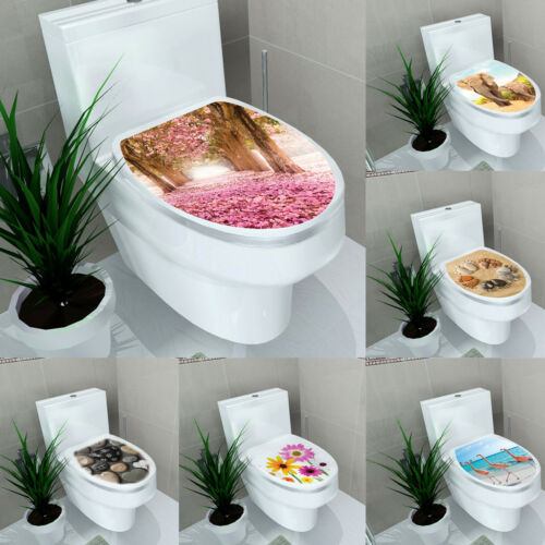 Adhesive Bathroom Toilet Seat Lid Decal Sticker Mural for Home Decoration