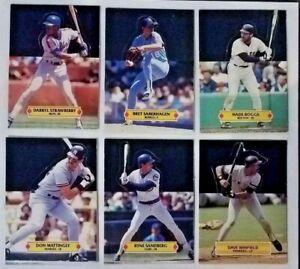 1987 1988 Leaf Baseball Fold Out Pop-Up Cards Lot of 12 Gooden Winfield Sandberg