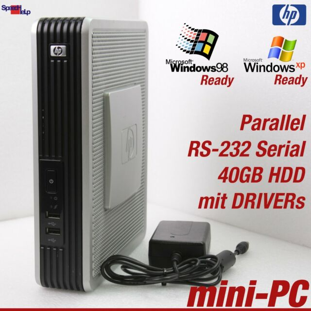 Hp Mini Computer Pc 1000mhz Windows 98 40gb Rs 232 Parallel Old