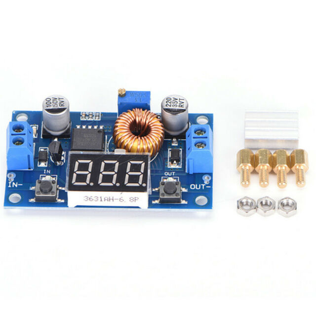 TOP 5A CC CV LED Drive Lithium Charger Power Step-Down Module USB Voltmeter CA