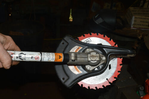 VIDEO !!! EGO 56V Brush Cutter  blade adapter kit USE ANY REGULAR SAW  BLADE -