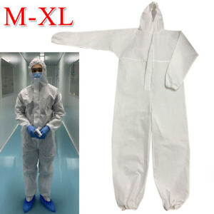 Coverall Hooded Isolation Gown Protective Suit Working Clothing Full Protection