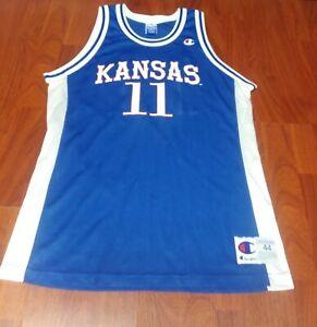 Jacque Vaughn Kansas Jayhawks Basketball Jersey-Blue