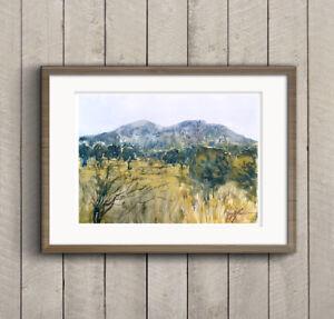 WILL-ELLISTON-Countryside-Landscape-Watercolour-Painting-Original-PRINT-Malvern