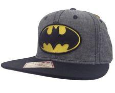 New Men's Batman DC Comics Dark Knight Snapback Hat Baseball Cap Heathered Gray