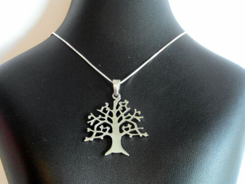 """Tree Of Life Pendant With 925 Silver 18/"""" Chain Sterling Silver New  !! 925"""