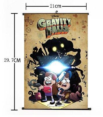 Hot Anime Disney Cartoon Gravity Falls Mabel Dipper Home Poster Wall Scroll 03